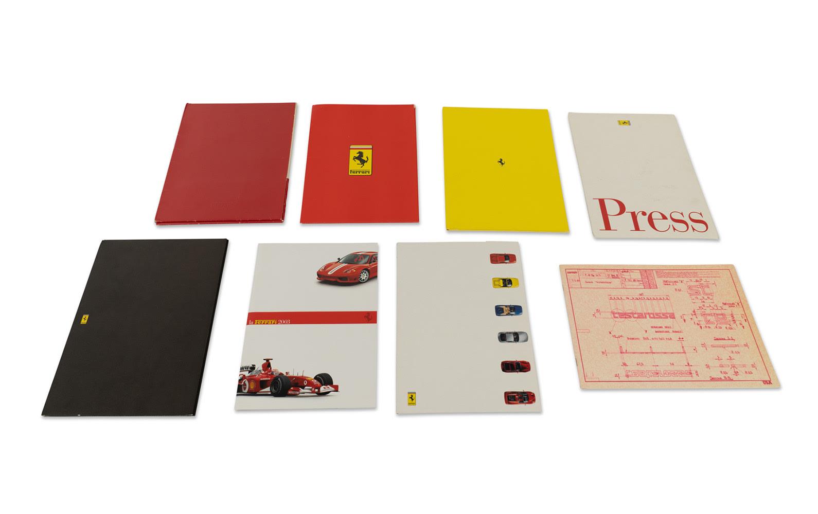Assorted Ferrari Press Kits, Predominantly from the 1990s
