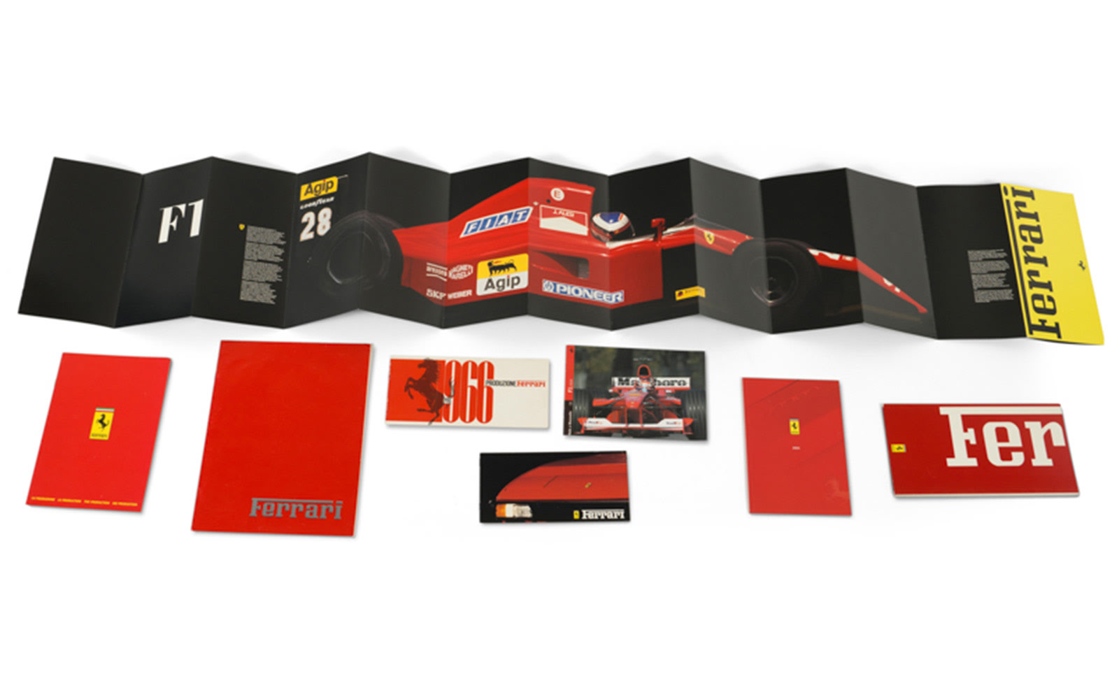 Assorted Ferrari Brochures, Including 1966 Product Line Brochure