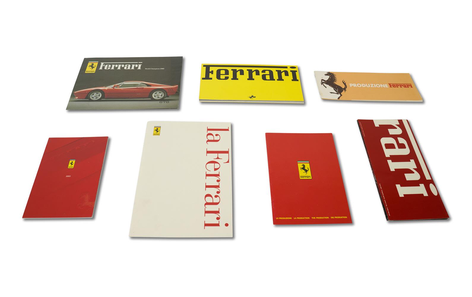 Assorted Ferrari Product Line Brochures