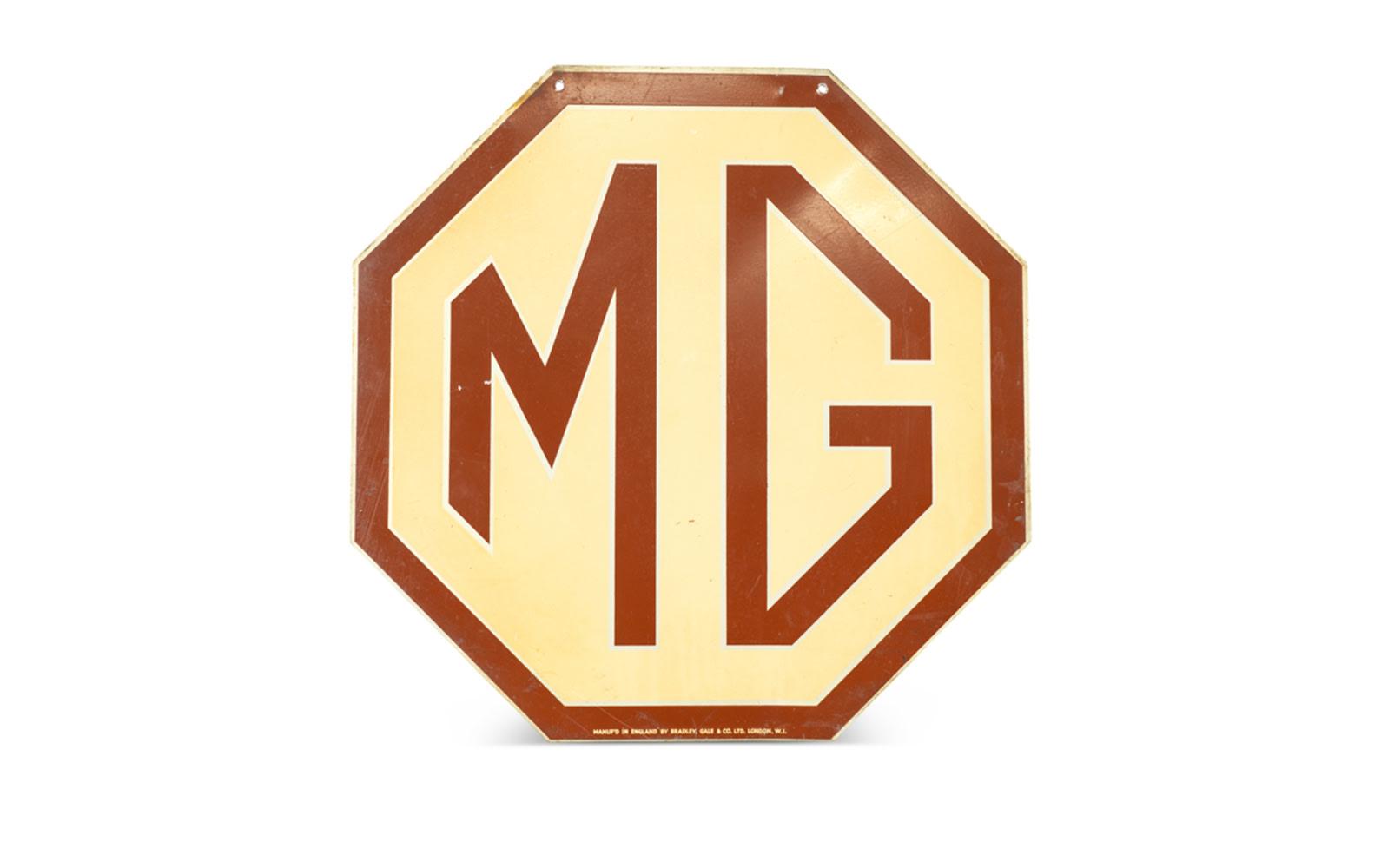Octagonal MG Dealership Sign