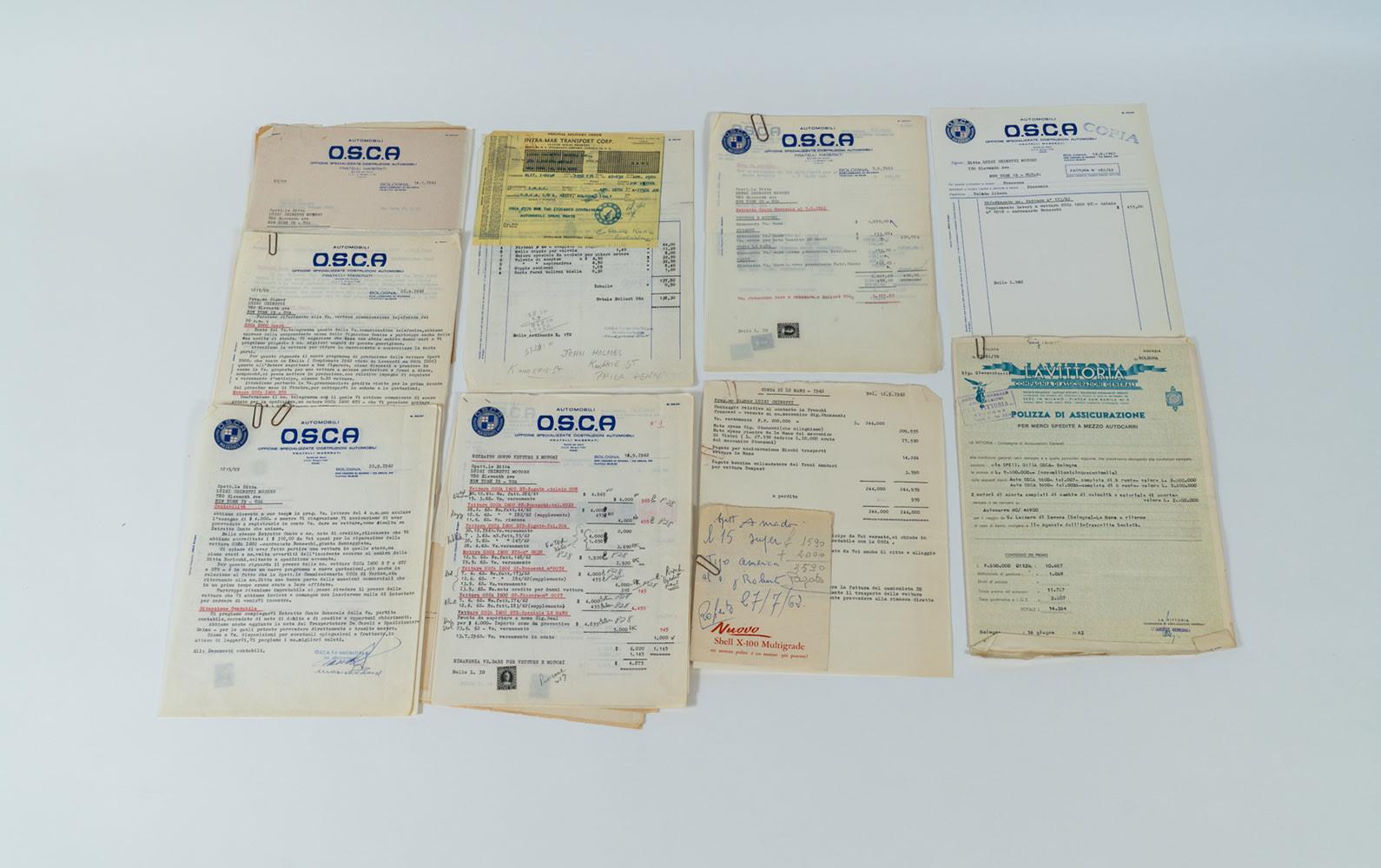 Collection of OSCA-Luigi Chinetti Motors Literature