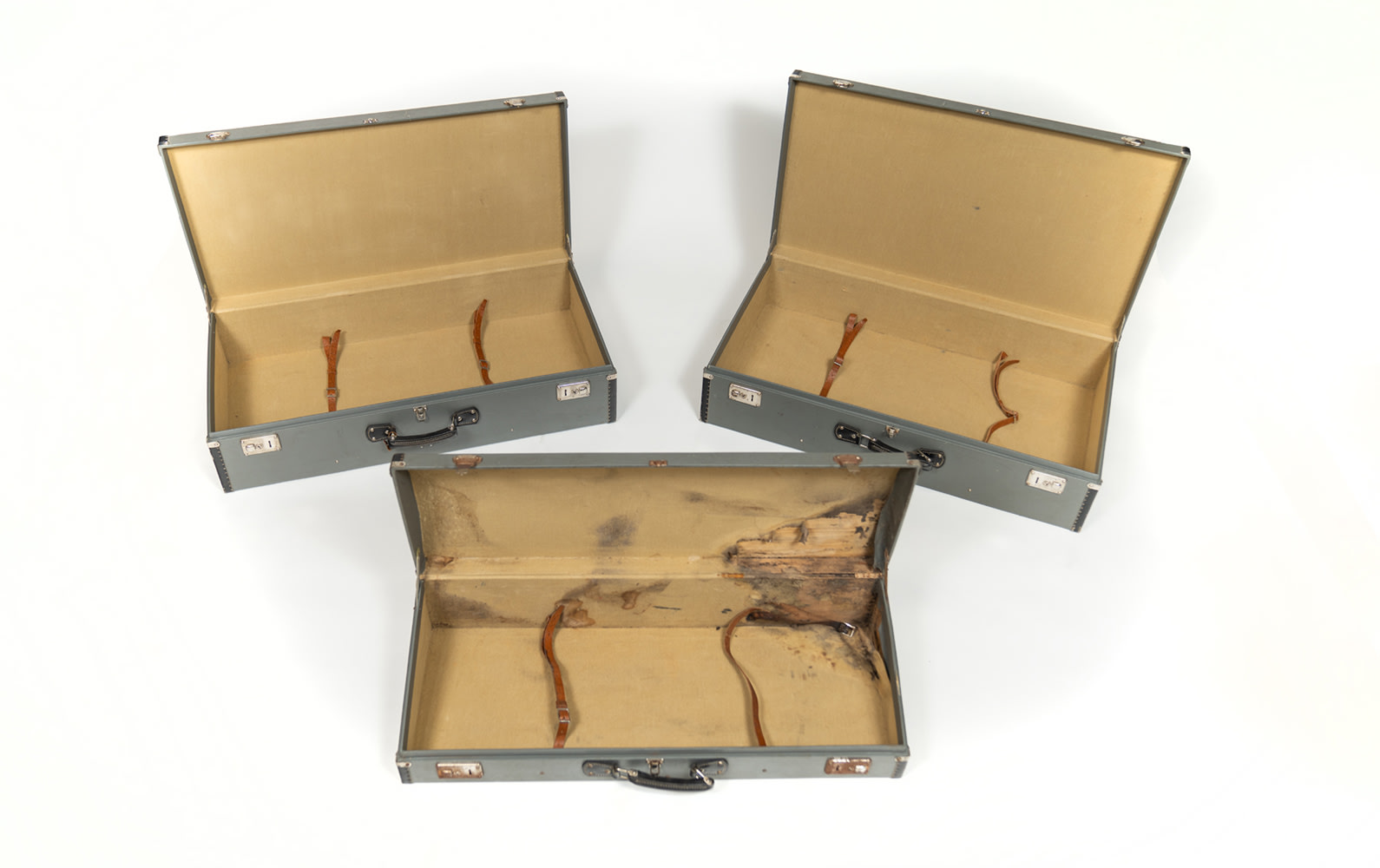 Three-Piece Fitted Luggage Set