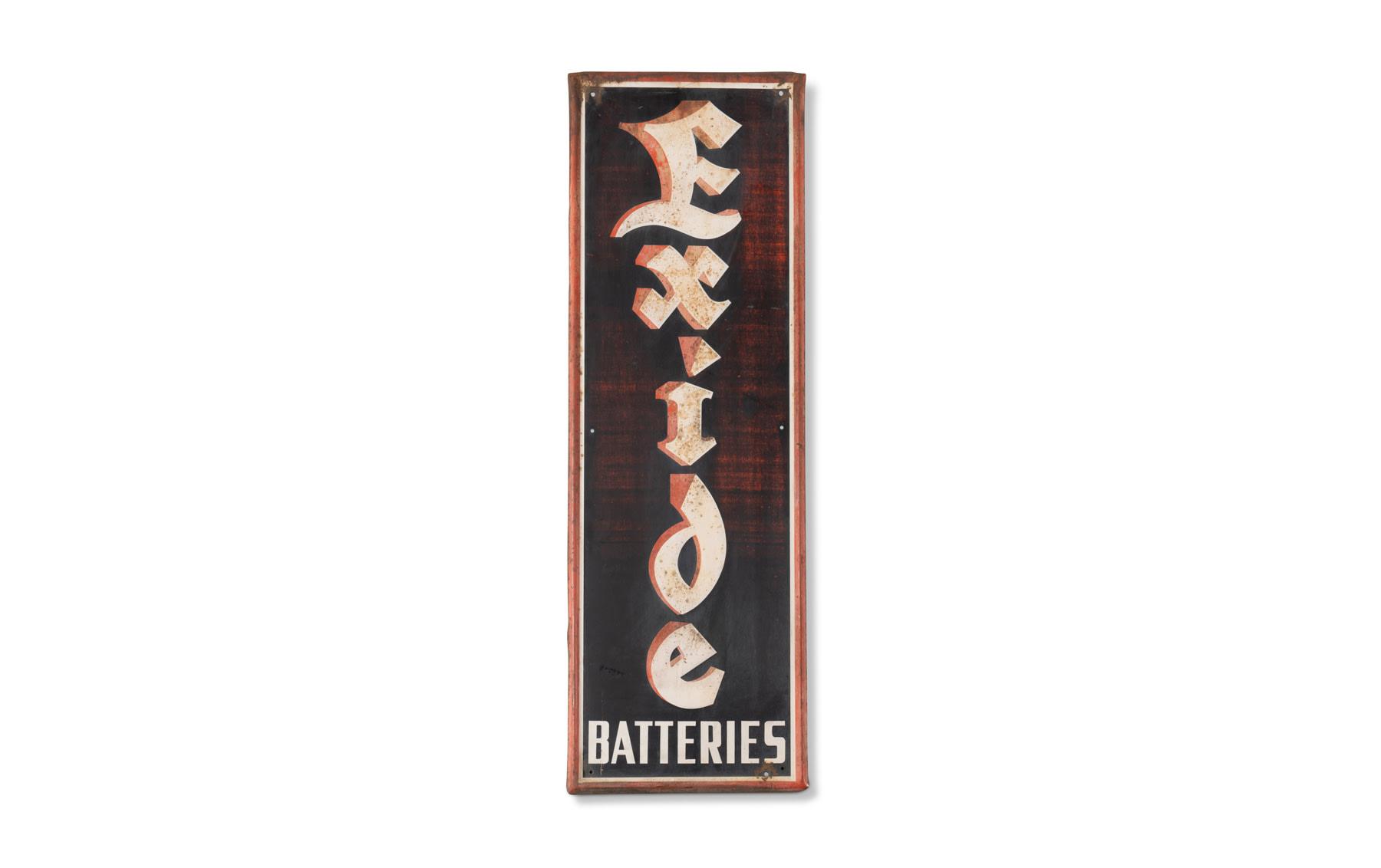 Exide Batteries Sign