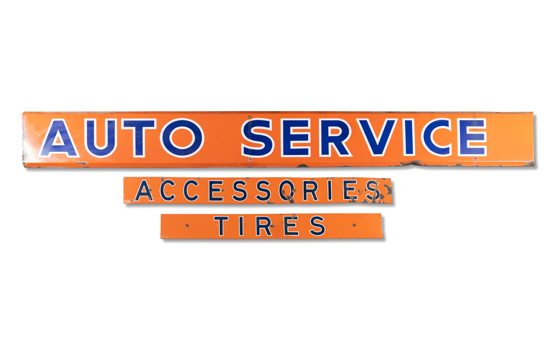 Auto Service, Accessories, and Tires Signs