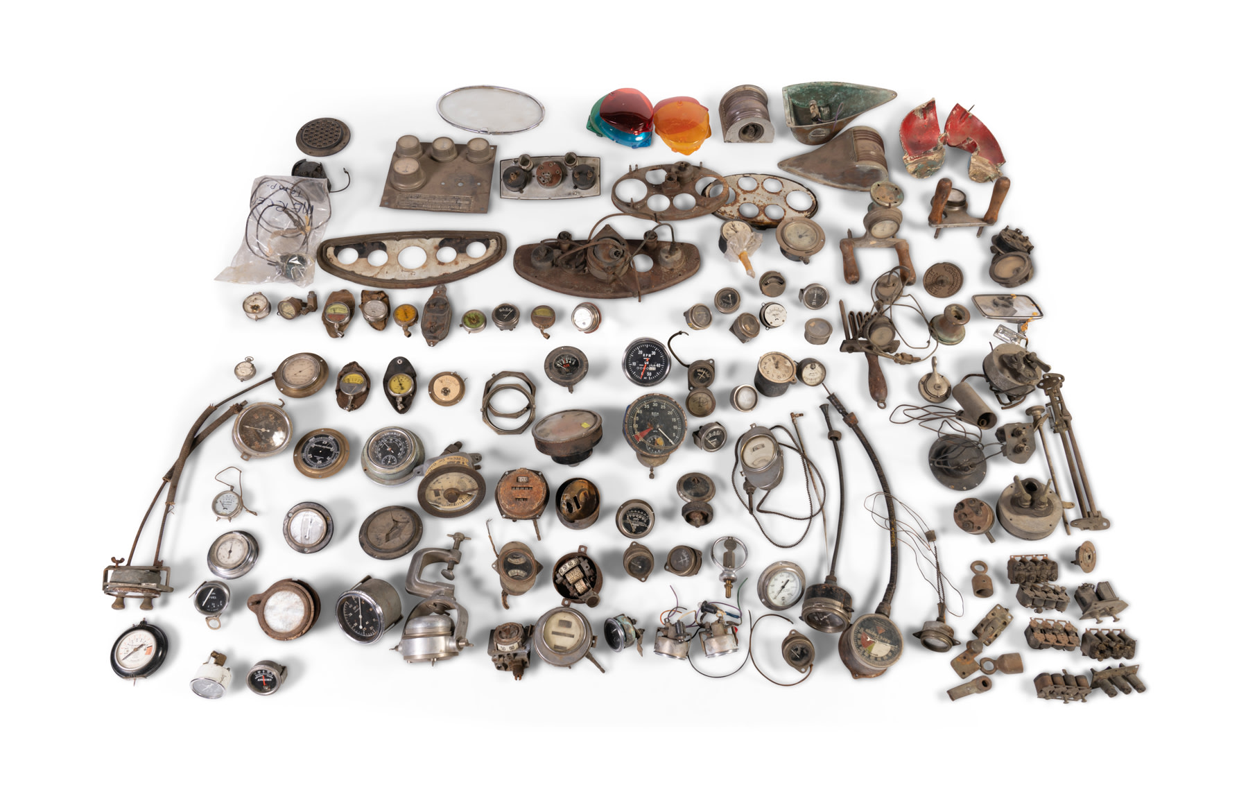 Assorted Automotive Gauges and Switches