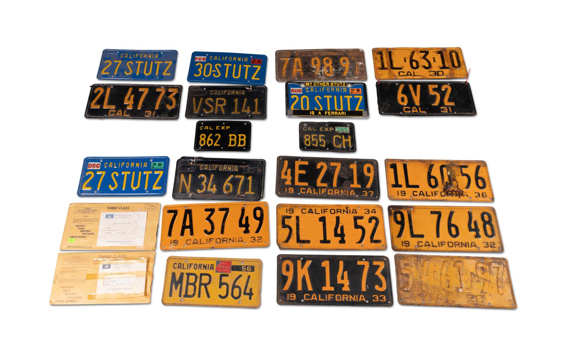 Assorted California License Plates