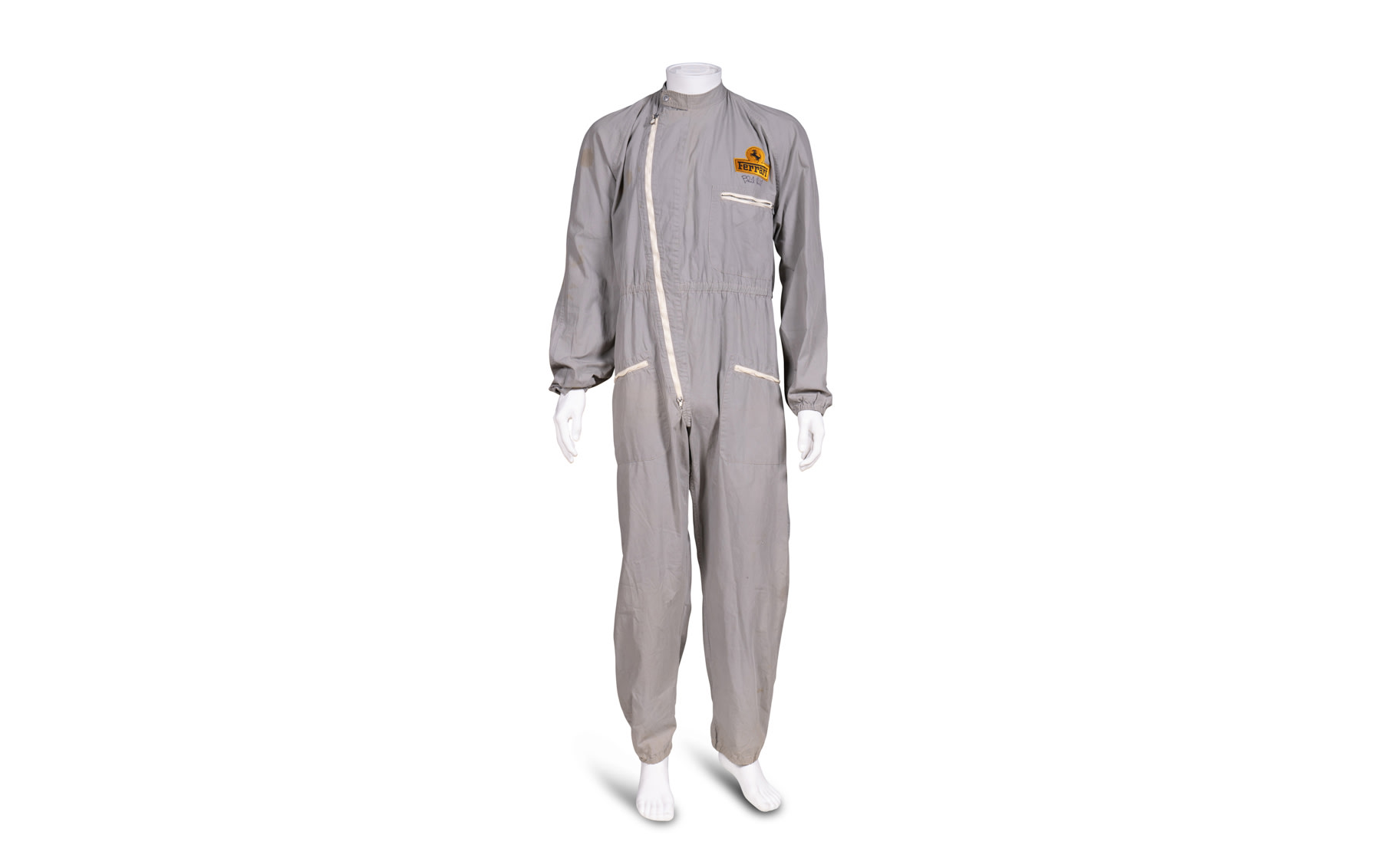 Sala Sport One-Piece Driving Suit, Autographed by Phil Hill