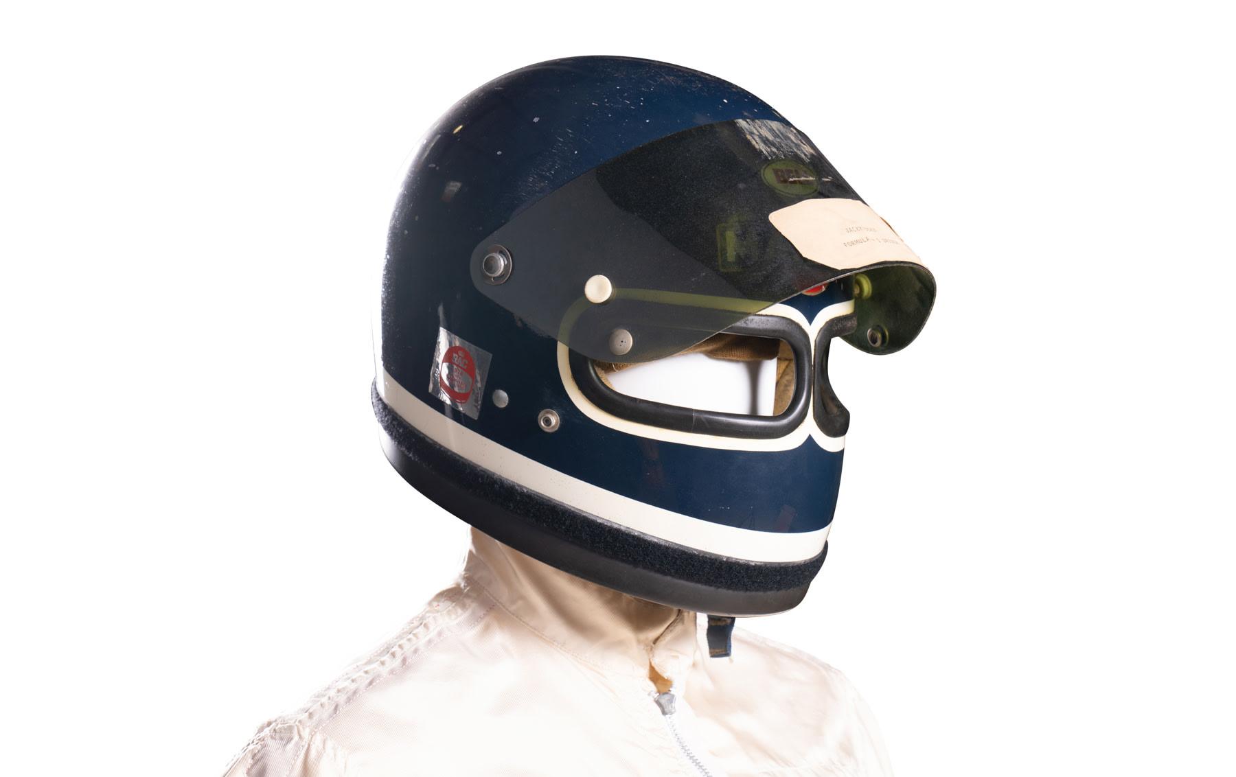 Bell Star XF-GP Twin Window Racing Helmet Worn by Jacky Ickx