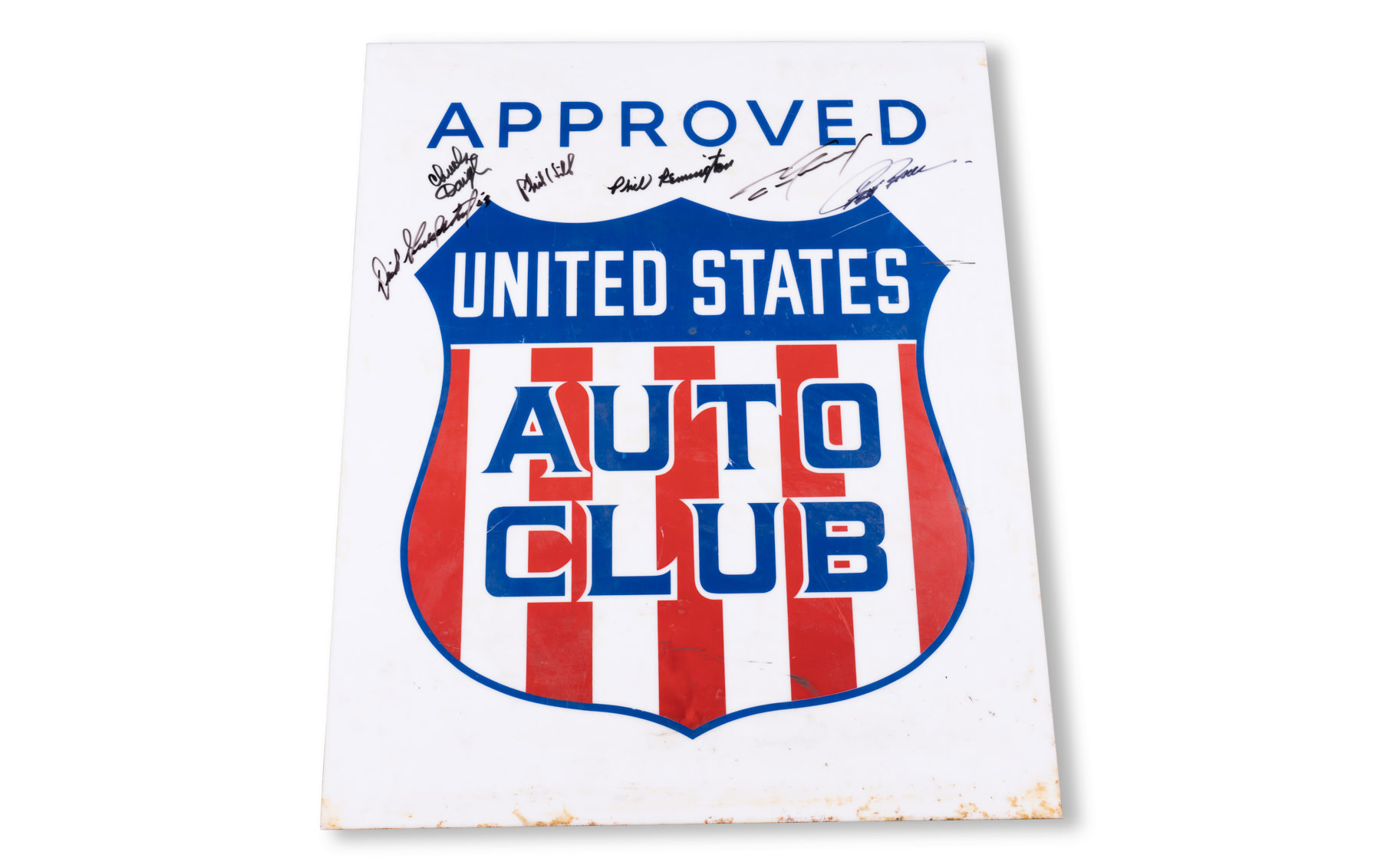 United States Auto Club Sign, Autographed