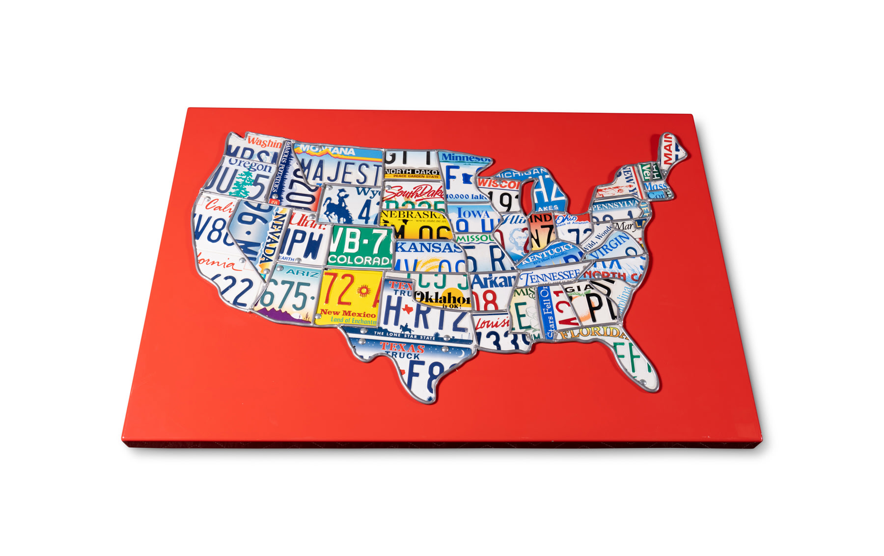 Map of the United States Built from Each State's License Plate