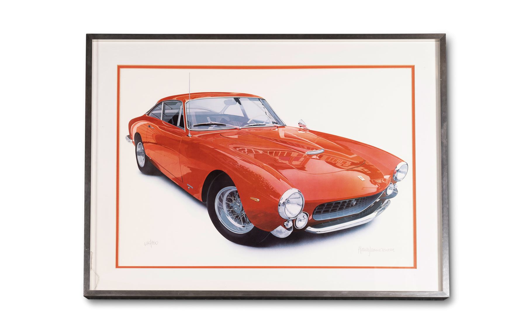 Ferrari Lusso Print by Harold James Cleworth