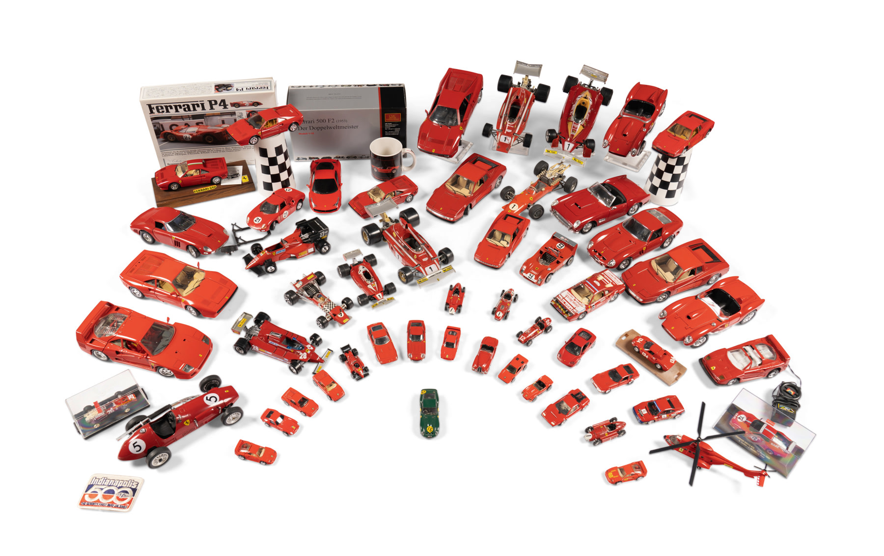 Assorted Ferrari Toy and Model Cars