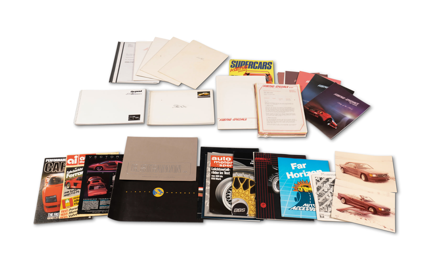 Assorted Tuner Car Literature, Including Rinspeed and Koenig