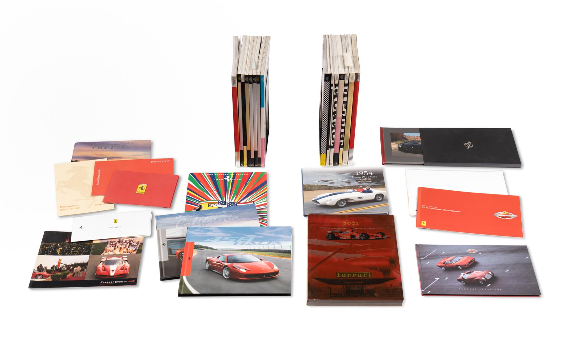 Assorted Ferrari Literature and Official Ferrari Magazines, 2000-Present
