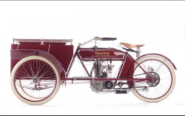 1911 Minneapolis Model N Tricar Package Delivery