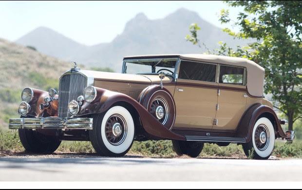 1933 Pierce-Arrow 1247 12 Convertible Sedan-2