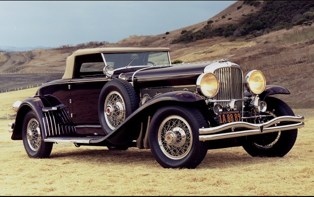 1935 Duesenberg SJ Disappearing-Top Convertible Coupe