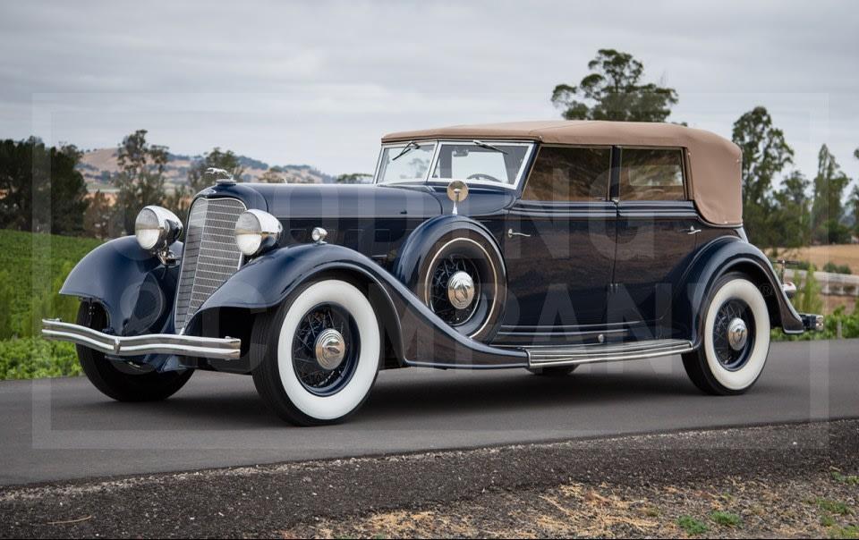 1934 Lincoln KB Convertible Sedan-2
