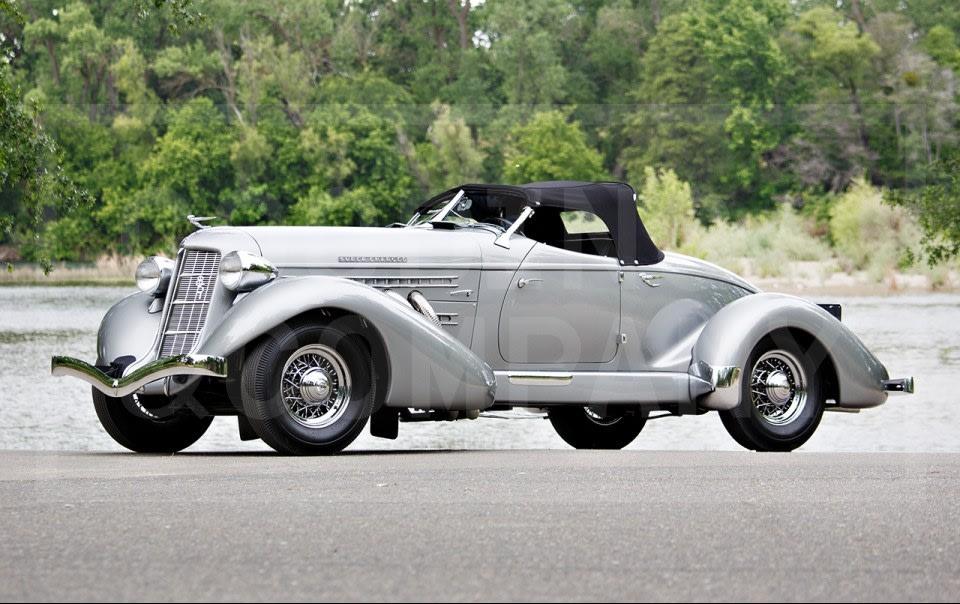1935 Auburn 851 SC Boattail Speedster-1