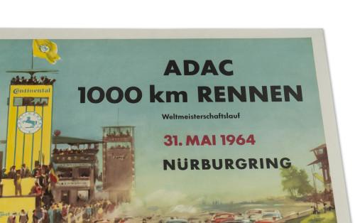 ADAC 1000 Km Rennen Nürburgring Poster, 1964