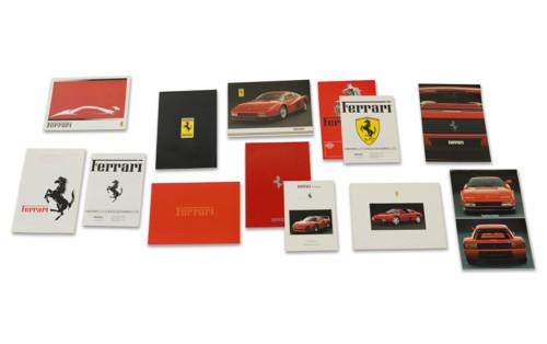 Ferrari Franchise and Independent Dealer Brochures, Including British and European Dealers