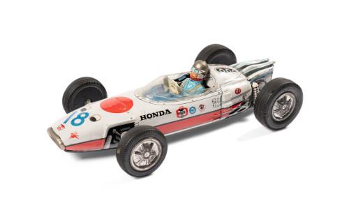 Asahi ATC Honda Grand Prix Tin Toy Car