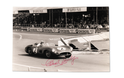 Assorted Photographs Signed by Carroll Shelby