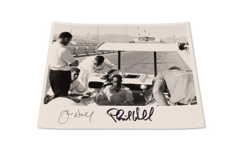Photograph of the Chaparral 2E, Signed by Jim Hall and Phil Hill