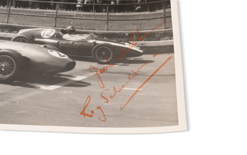 Photograph Signed by Roy Salvadori and Jack Brabham